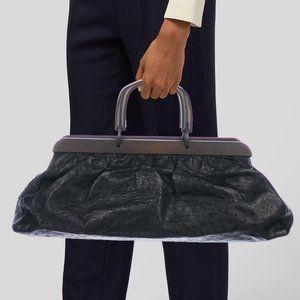 Vintage Gucci Tom Ford Era Ostrich Doctor Bag
